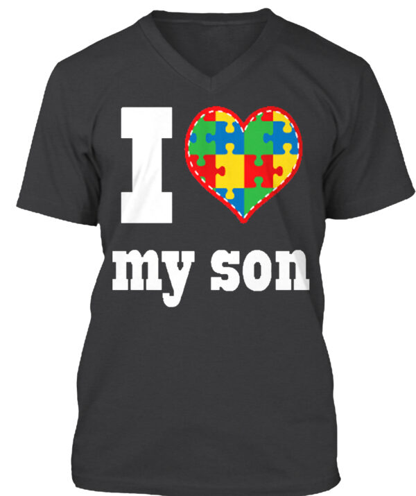 I Love My Son Autism Awareness Shirt from La La Land Shirts